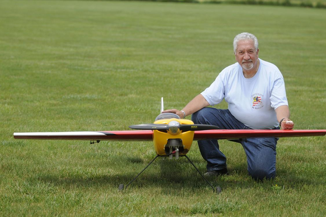 "John Palestro from Staten Island NY with his 16 pound Edge 540T.  His plane has an 84"" wingspan powered by a DA50."